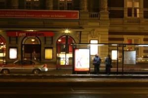 Bus stop by yozza