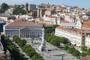 Plaza de Rossio in Lisbon